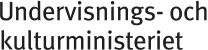 Opetus- ja kulttuuriministeriö - Undervisnings- och kulturministeriet logo