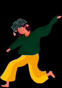 En teckning av en ledsen person